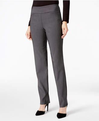 Charter Club Petite Cambridge Checkered Slim-Leg Pants