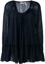 See by Chloe ruffle blouse - women - Cotton/Polyester - L