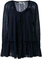 See by Chloe ruffle blouse - women - Cotton/Polyester - XS