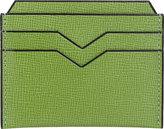 Valextra Men's Flat Card Case-LIGHT GREEN