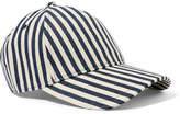Rag & Bone Marilyn Striped Denim Baseball Cap - Navy