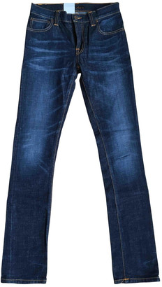 Nudie Jeans Blue Cotton - elasthane Jeans