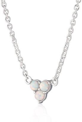 Scream Pretty Silver Opal Trinity Necklace With Slider Clasp