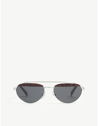 Alain Mikli Elicot patterned oval-frame sunglasses