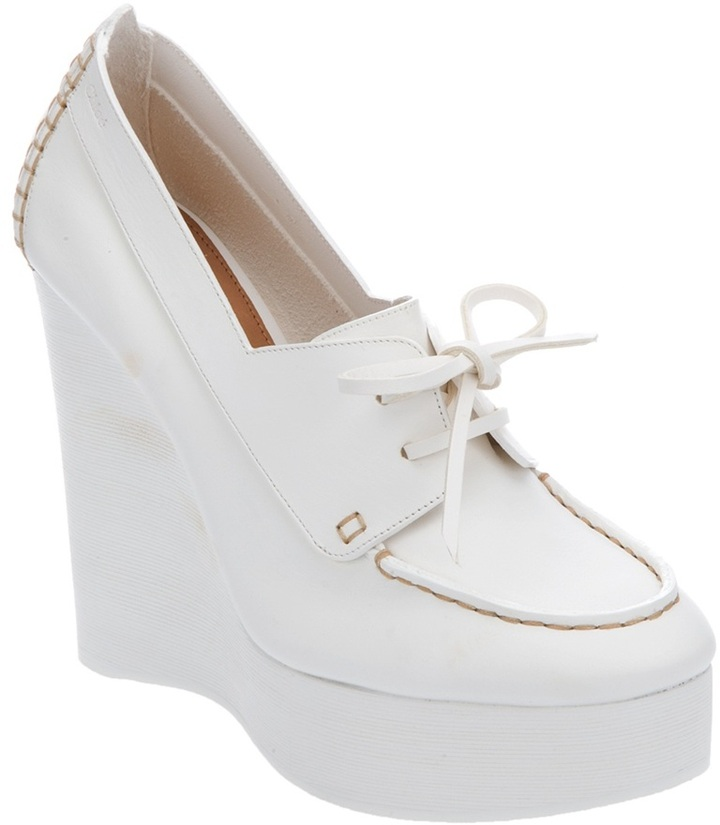 Chloé lace-up wedge