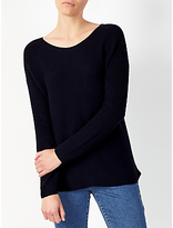 John Lewis Rib Stitch Crew Neck Jumper