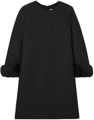Valentino Silk Satin-trimmed Wool And Silk-blend Mini Dress