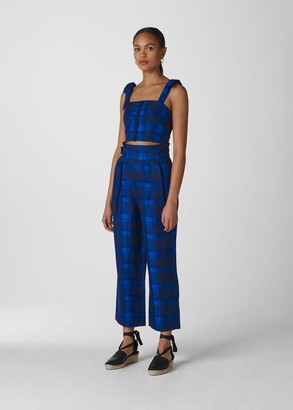 Check Pleated Trouser