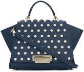 Zac Posen studded satchel - women - Calf Leather/metal - One Size