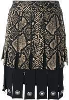 Fausto Puglisi snake print effect pleated skirt