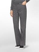 Calvin Klein Straight Fit Glen Plaid Suit Pants