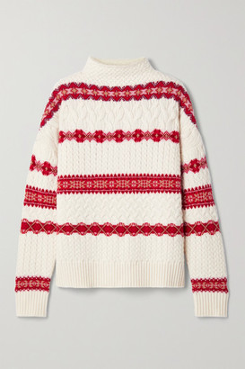 Altuzarra Jac Fair Isle Cable-knit Wool Turtleneck Sweater - Ivory