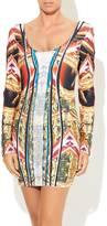 Wow Couture Orange Print Dress