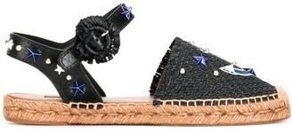 Dolce & Gabbana anchor espadrille sandals