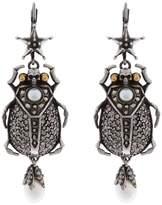 Alexander McQueen Beetle Earrings