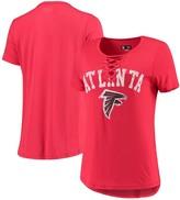 New Era Women's Red Atlanta Falcons Athletic Lace-Up T-Shirt