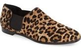 Jimmy Choo 'Glint' Genuine Calf Hair Square Toe Slip-On Flat (Women)