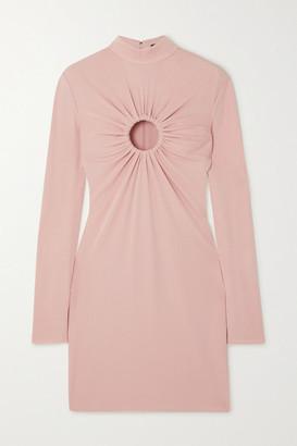 Tom Ford Cutout Stretch-crepe Mini Dress - Pink