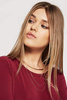 BCBGeneration Choker with Double Chain Necklace