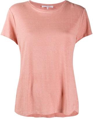 Frame linen short-sleeved T-shirt