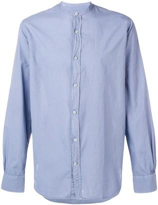 Officine Generale Mandarin Collar Shirt