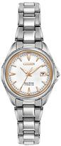 Citizen EW2410-54A Women's Date Titanium Bracelet Strap Watch, Silver/White