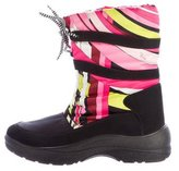 Emilio Pucci Abstract Print Mid-Calf Boots