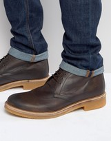 Base London Rufus Leather Chukka Boots