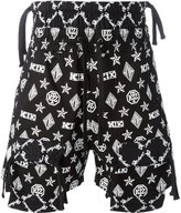 Kokon To Zai monogram overlap shorts - men - Cotton - S