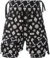 Kokon To Zai monogram overlap shorts