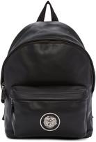Versus Black Leather Logo Backpack