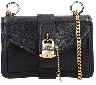 Chloé Mini Aby Shoulder Bag In Black Leather