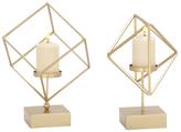 Geometric Candleholders (Set of 2)