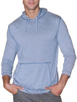 191 Unlimited Men's Blue Striped Pullover Hoodie