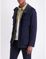 Lardini Patch Pocket Sheel And Cotton-blend Field Jacket