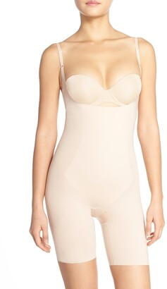 Spanx Thinstincts(R) Open Bust Mid Thigh Bodysuit