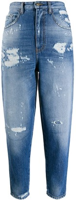 Just Cavalli Distressed Cropped Jeans