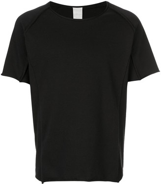 Carpe Diem raw hem T-shirt