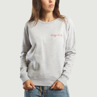 Maison Labiche Light Grey Crazy in Love Sweatshirt - xs | cotton | light grey - Light grey