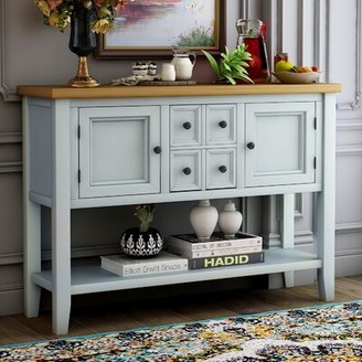 Dovecove 46'' Wide 4 Drawer Sideboard Color: Lime White
