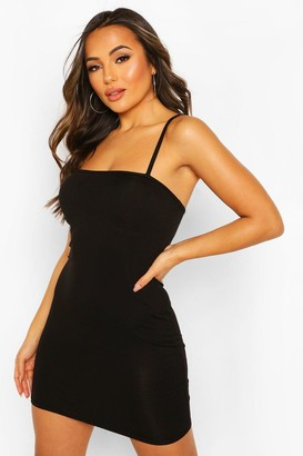 boohoo Petite Square Neck Mini Bodycon Dress