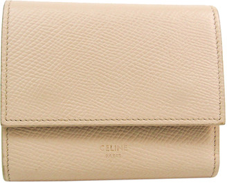 Celine Ivory Leather Trifold Small Wallet