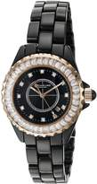 Stuhrling Original Women's 530S2.114OB1 Vogue Quartz Date Swarovski Crystal Accented Bezel Casual Stainless Steel Link Bracelet Watch