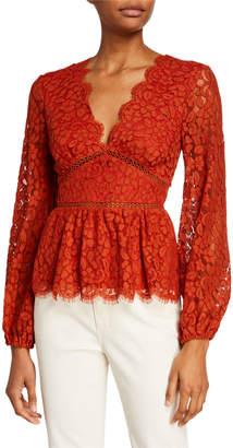 Endless Rose V-Neck Long-Sleeve Lace Detailed Blouse