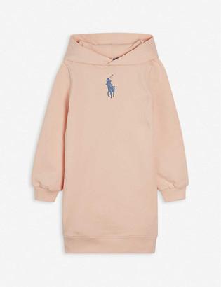 Ralph Lauren Logo-embroidered cotton-blend sweatshirt dress 2-14 years