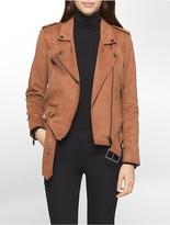 Calvin Klein Soft Suede Biker Jacket