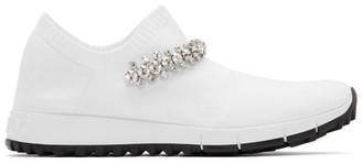 Jimmy Choo White Crystal Verona Sneakers