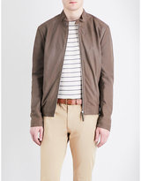 Armani Collezioni Leather Bomber Jacket