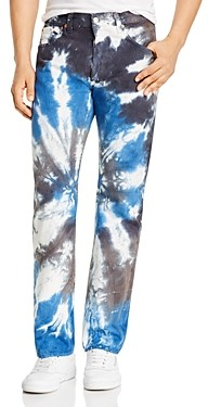 Levi's 501 93 Straight Fit Tie-Dyed Jeans in Silver