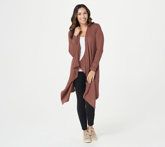 zuda Ecovero Open Front Cardigan with Rib Detail